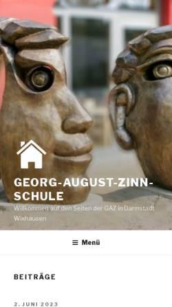 Vorschau der mobilen Webseite www.gaz-schule.de, Georg-August-Zinn-Schule