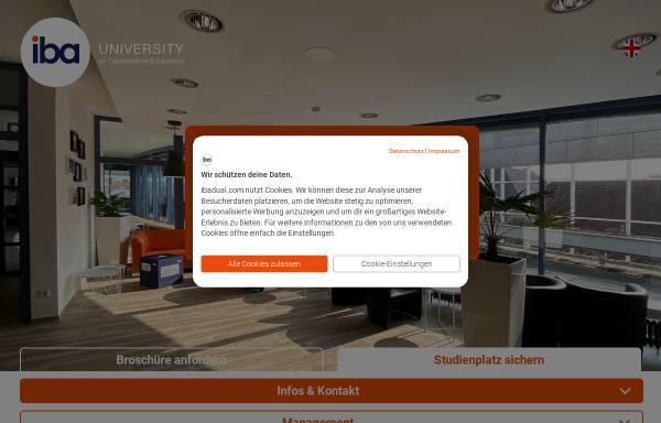 Vorschau von www.iba-darmstadt.com, Internationale Berufsakademie - F+U Unternehmensgruppe gGmbH