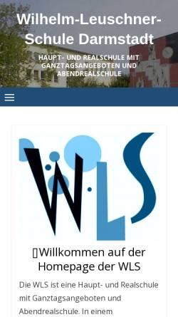 Vorschau der mobilen Webseite www.wlsda.de, Wilhelm Leuschner Schule Darmstadt