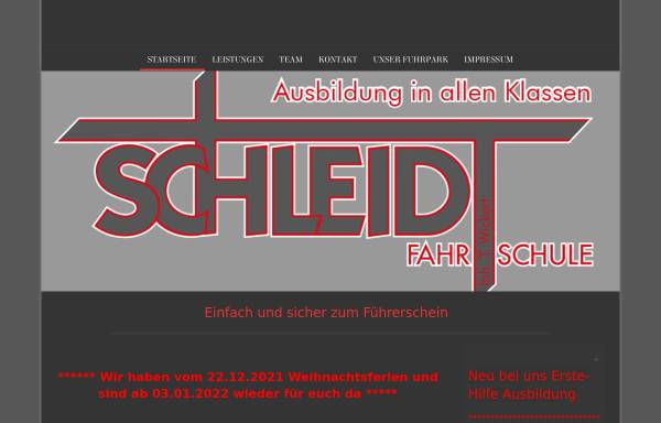 Vorschau von www.schleidt-online.de, Fahrschule Schleidt