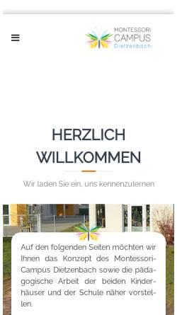 Vorschau der mobilen Webseite www.montessori-dietzenbach.de, Freie Montessori-Schule Dietzenbach