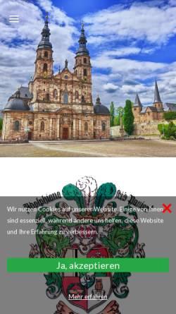Vorschau der mobilen Webseite www.adolphiana.de, Studentenverbindung Adolphiana im CV