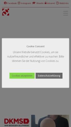 Vorschau der mobilen Webseite www.ferdinand-braun-schule.de, Technische Fachschule Ferdinand-Braun-Schule