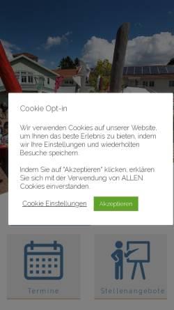 Vorschau der mobilen Webseite waldorfschule-oberursel.de, Freie Waldorfschule Vordertaunus