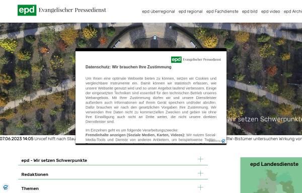 Vorschau von epd.de, Evangelischer Pressedienst