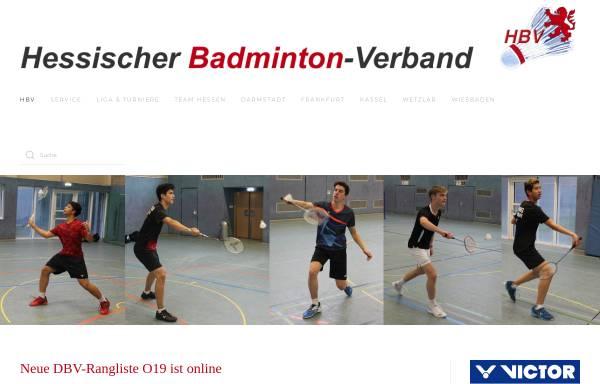 Vorschau von www.hessischer-badminton-verband.de, Hessischer Badminton Verband e.V.