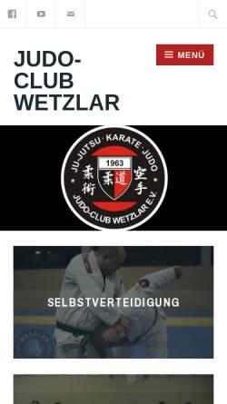 Vorschau der mobilen Webseite www.judo-club-wetzlar.de, Judo Club Wetzlar 1963 eV