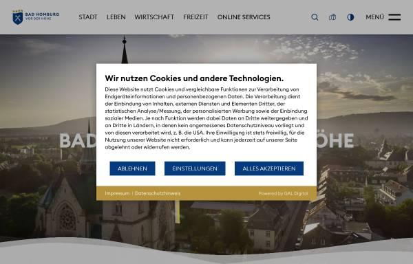 Vorschau von www.bad-homburg.de, Bad Homburg