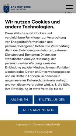 Vorschau der mobilen Webseite www.bad-homburg.de, Bad Homburg