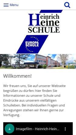 Vorschau der mobilen Webseite www.heinrich-heine-schule.de, Heinrich-Heine-Schule