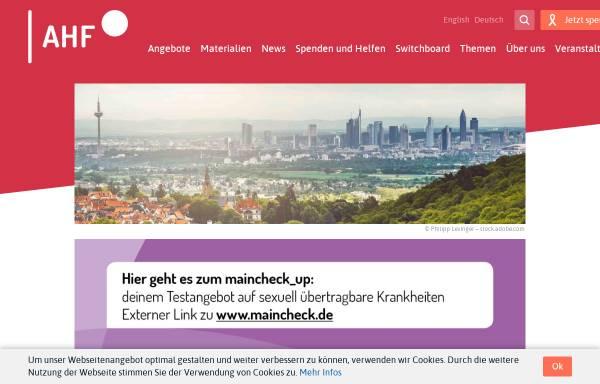 Vorschau von www.frankfurt-aidshilfe.de, AIDS-Hilfe Frankfurt e.V.