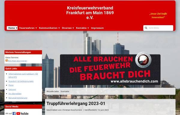 Vorschau von www.kfv-ffm.de, Kreisfeuerwehrverband Frankfurt am Main