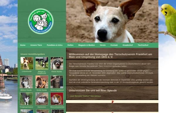 Vorschau von www.tsv-frankfurt.de, Tierschutzverein Frankfurt am Main