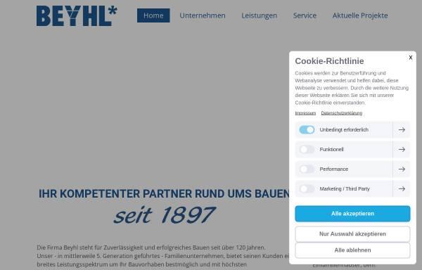 Vorschau von www.beyhl.de, Beyl Bau GmbH