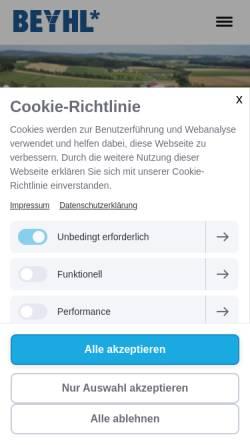 Vorschau der mobilen Webseite www.beyhl.de, Beyl Bau GmbH