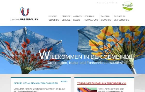 Vorschau von www.ursensollen.de, Gemeinde Ursensollen
