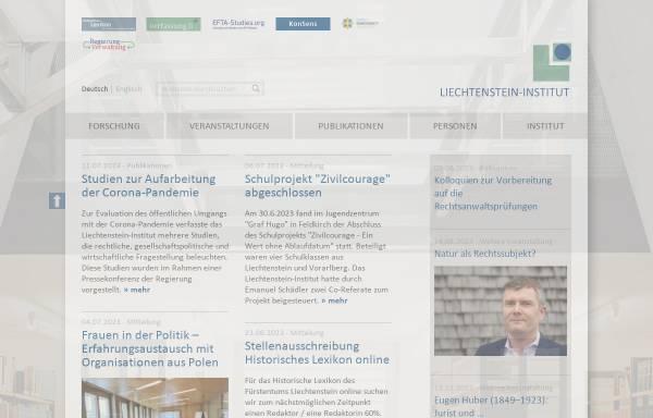 Vorschau von www.liechtenstein-institut.li, Liechtenstein-Institut, Bendern