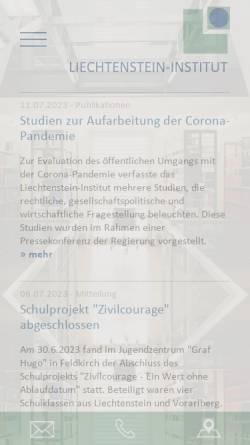 Vorschau der mobilen Webseite www.liechtenstein-institut.li, Liechtenstein-Institut, Bendern