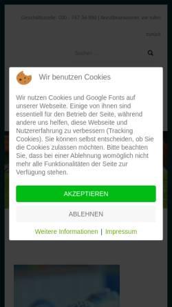 Vorschau der mobilen Webseite www.sport-berlin.de, Sport-Berlin.de