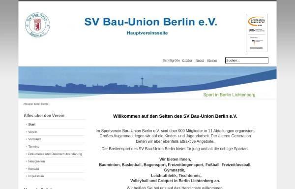Vorschau von www.sv-bau-union-berlin.de, SV Bau-Union Berlin e.V.