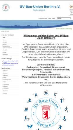 Vorschau der mobilen Webseite www.sv-bau-union-berlin.de, SV Bau-Union Berlin e.V.