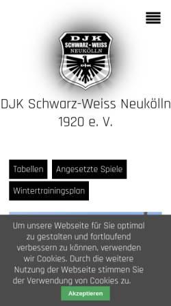 Vorschau der mobilen Webseite www.schwarz-weiss-neukoelln.de, Schwarz Weiß Neukölln 1920 e.V.