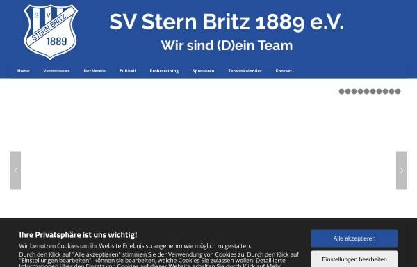 Vorschau von www.sternbritz.de, SV Stern Britz 1889 e.V.