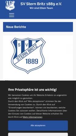 Vorschau der mobilen Webseite www.sternbritz.de, SV Stern Britz 1889 e.V.