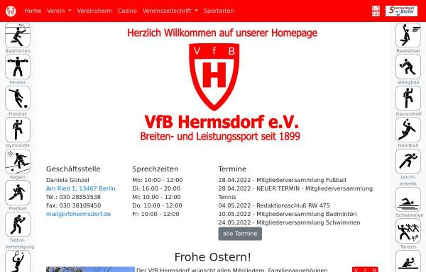 Vorschau von www.vfbhermsdorf.de, VfB Hermsdorf e.V.