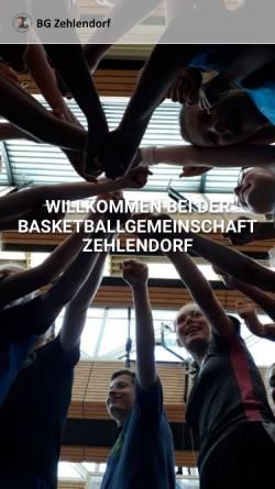 Vorschau der mobilen Webseite www.bgz.net, Basketball-Gemeinschaft Zehlendorf e.V.