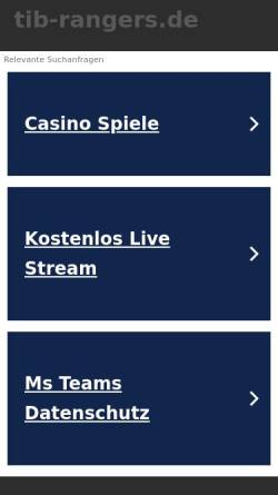 Vorschau der mobilen Webseite www.tib-rangers.de, TiB Rangers