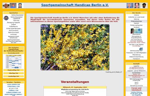 Vorschau von www.sgh-berlin.de, Sportverein Handicap Berlin e.V.