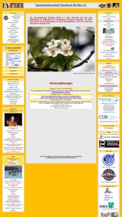 Vorschau der mobilen Webseite www.sgh-berlin.de, Sportverein Handicap Berlin e.V.