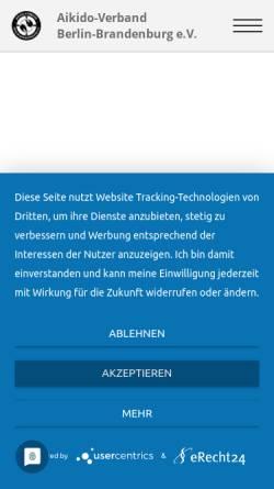 Vorschau der mobilen Webseite www.aikido-berlin-brandenburg.de, Aikido-Verband Berlin-Brandenburg e.V.