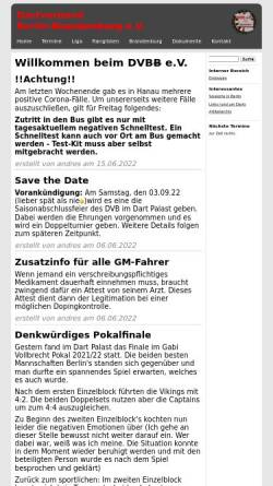 Vorschau der mobilen Webseite www.dvbb.de, Dartverband Berlin Brandenburg