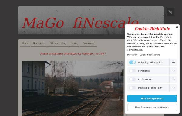 Vorschau von www.mago-finescale.de, Mago-Finescale, Klaus Maaser