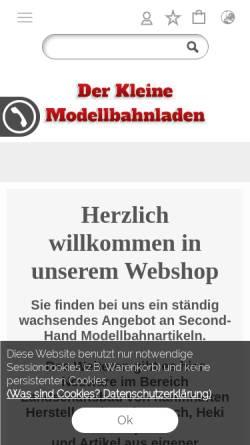 Vorschau der mobilen Webseite modellbahn-dioramen.de, Modellbahn und Dioramen, Matthias Prütz