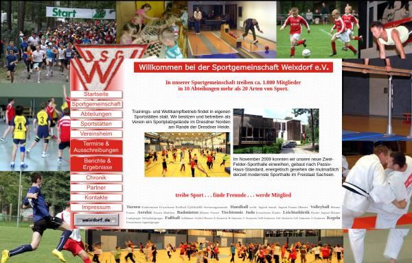 Vorschau von www.sgweixdorf.de, Sportgemeinschaft Weixdorf