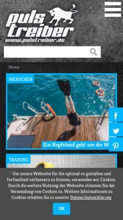 Vorschau der mobilen Webseite www.sport-dresden.de, Sportpool Magazin Dresden