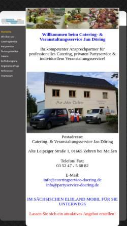 Vorschau der mobilen Webseite www.cateringservice-doering.de, Catering und Veranstaltungs-Service Jan Döring