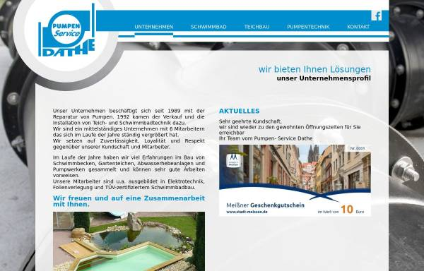 Vorschau von www.pumpenservice-dathe.de, Pumpen-Service Dathe GmbH