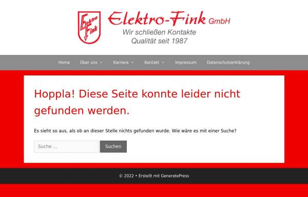 Vorschau von elektro-fink.de, Elektro-Fink GmbH