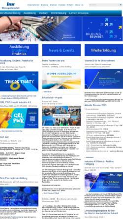 Vorschau der mobilen Webseite www.bwc-ggmbh.de, BWC -- Bildungs-Werkstatt Chemnitz gGmbH