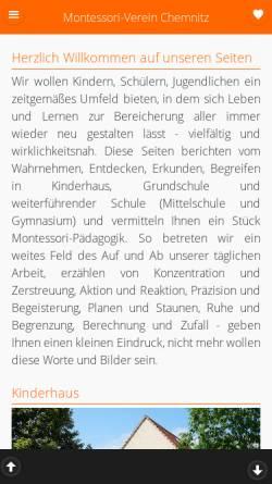 Vorschau der mobilen Webseite www.montessori-chemnitz.de, Montessori-Verein Chemnitz e.V.
