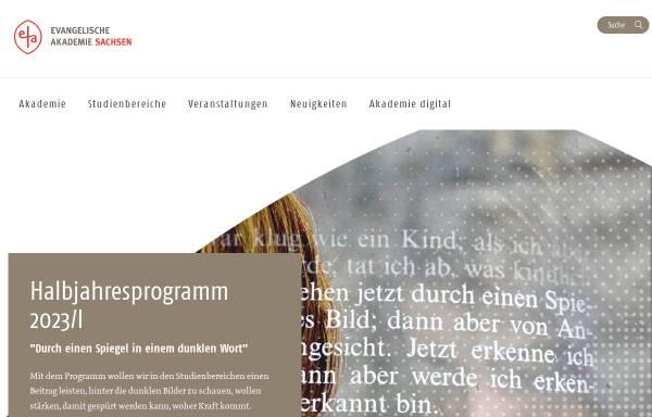 Vorschau von www.ev-akademie-meissen.de, Evangelische Akademie Meißen