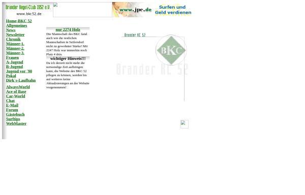 Vorschau von www.bkc52.de, Brander Kegel-Club 1952 e.V.
