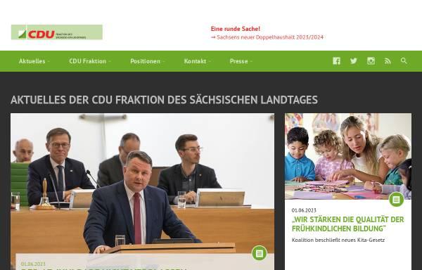 Vorschau von www.cdu-sachsen-fraktion.de, CDU-Fraktion des Sächsischen Landtages