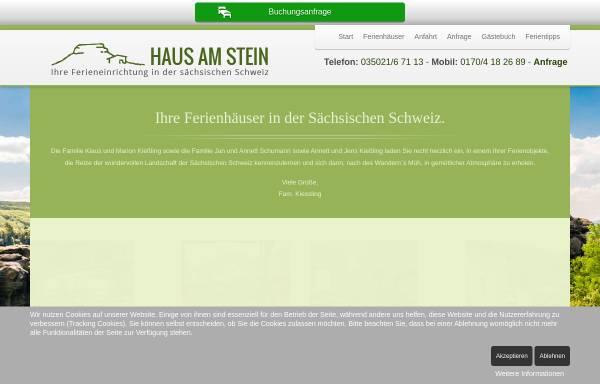 Vorschau von www.saechsische-schweiz.info, Ferieneinrichtungen Haus am Stein - Sächsische Schweiz