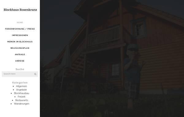 Vorschau von www.blockhaus-rosenkranz.de, Ferienwohnung bei Bad Schandau