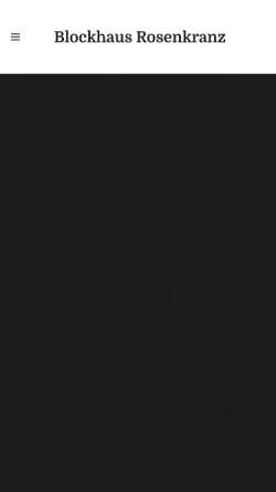 Vorschau der mobilen Webseite www.blockhaus-rosenkranz.de, Ferienwohnung bei Bad Schandau
